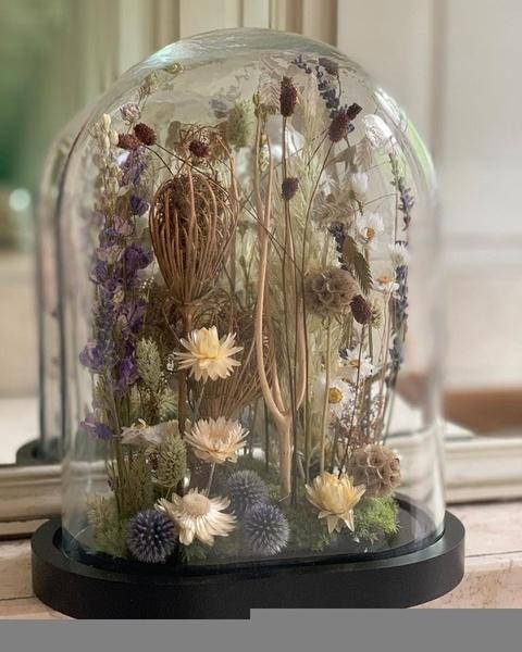 Cloche fleurs séchées xxl